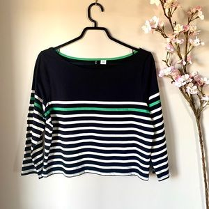 UO / BDG / STRIPED CROPPED LONG SLEEVE TOP